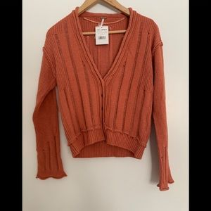 NWT Free People Stevie Knit Cardigan Size S